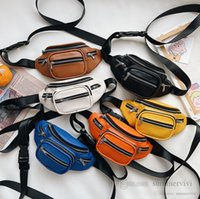 Fashion Kids chest backpack boys single shoulder casual bags designer children PU leather waist bag women mini purse Q2697