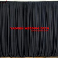 Party Decoration White And Black Panel Poly Wedding Backdrop Curtain Seamless Backdrops Stage Background Event