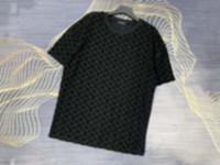 21ss Erkek Tee T Shirt Jakarlı Örme Kumaş Erkek Giysileri Kısa Kollu Erkek Gömlek Etiketi Mektuplar Polo Yeni Siyah Beyaz 07