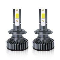 Fari dell'automobile LED Faro del faro H7 H4 H11 H8 9006 Lampadine 72W 12000LM H13 9004 9007 Appailiato universale Auto impermeabile in alluminio