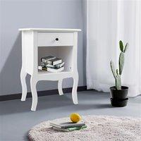 ベッドルーム家具ヨーロッパのベッドサイドテーブル - ワンポンプホワイトノルディックシンプルな小さなコーヒーテーブルモダンと現代的な