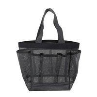 جيوب شبكة حقيبة يد كبيرة سعة شاطئ حمام السباحة أحذية حقيبة التخزين إمرأة ماكياج التجميل حمل غسيل أكياس EEB5617
