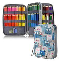 Pencil Bags 96 192 Holes Cat Case School For Girls Boys Large Capacity Cartridge Supplies Cute Kawaii Pen Bag Big Stationery Box Kit