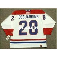 001S # 28 Eric desjardins Montreal Canadiens 1993 CCM Ретро подальше Домашнее хоккейное джерси или пользовательское имя или номер ретро Джерси