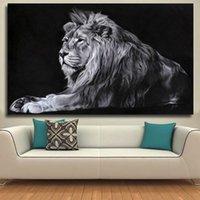CNPainting Canvas Painting Moderna Animal Picture Wall Art Canvas Prints Lion Pictures Pósteres para sala de estar decoración sin marco
