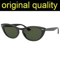 Лучшие высочайшие лучи 4314 женские солнцезащитные очки кошачьи глазные очки женщин ацетат кадр стекло линзы солнцезащитные очки женские моды для женщин
