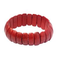 Bracelet turquoise turquoise rouge poignet rouge décorateur boho bijoux