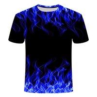 Men's T-Shirts Fire Flaming Tshirt Men Women T Shirt 3d T-shirt Black Tee Casual Top Anime Camiseta Streetwear Short Sleeve Harajuku