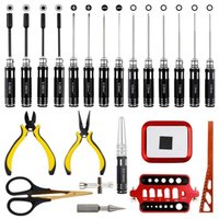 Professional Hand Tool Sets RC Tools Kits Hex Screwdriver Set Nut Sleeve Socket Pliers Repair For Car Boat Quadcopter (23 In 1)