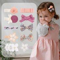 Bebek Kız Çiçek Ilmek Prenses Tokalar Saç Klipler Tokalar Hairgrips Sevimli Çocuklar Headdress Güzel Huilin B161