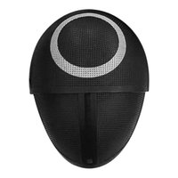TV Squid Game Black Mask Cosplay Circle Triangle Plastic Helmet Masks Halloween Round Six Square Masquerade Party Costume Props