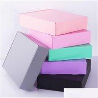 10pcs 15 * 15 * 5 cm gris noir rose papier rose emballage boîte boîte de carton ornements / foulard / cravate emballage de cadeau BBYUMK BDE_LUCK