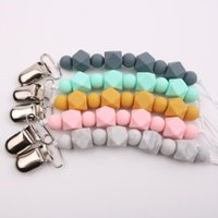 Pacifier Holders&Clips# Baby Universal Holder Pacifiers Leashes Nipples Clip Chain Infant Child Soother Beaded Chains Teethers For Born