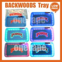 Backwoods LED Haddeleme Glow Tepsi Mavi Beyaz Mor Noel Hediyesi Set Kurabiye Rolling Glowtray Ambalaj Kağıt Kutusu 420 Kuru Herb Kurabiye
