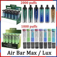 Air Bar Max Lux Dispositivo Descartável Pods E Cigarro Airbar 1250Mah Cartuchos Prefalcados 6.5ml Starter Kits 12 Cores Vaporizador Diamand
