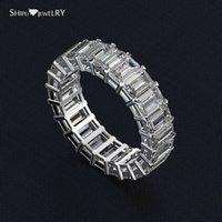 HBP Fashion Bilancio Shipai Best Selling Silver Silver Zircon Simulazione femminile Full Row Diamond 3 * 5mm anello