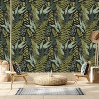 Wallpapers 3d Custom Nordic Tropical Green Leaf Home Decor For Bedroom TV Embossed Textured Paper Removable Walls In Rolls Mural
