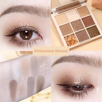 Eye Shadow Chocolate Cookie 9 Colors Eyeshadow Palette Matte Glitter Pigmented Earth Color Shimmer Powder Makeup TSLM1