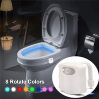 스마트 pir 모션 센서 화장실 좌석 밤 빛 8/16 색 방수 백라이트 화장실 주도 Luminaria 램프 WC 화장실 빛