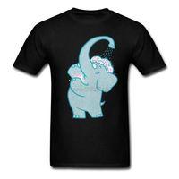 Мужские футболки для взрослых человек смешной слон дизайн пользовательских футболок с самоуверенным дизайнером по странной рубашкой для маннави