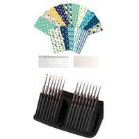 Set Su Geçirmez Para Nakit Zarflar Kullanımlık 1 Detay Boya Fırça Seti, Minyatür Boyama Fırçalar Seti Hediye Paketi