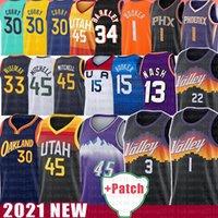 Utah Jazz Phoenix Suns Golden State Warriors Stephen Curry Devin Booker Donovan Wiseman Mitchell Basketball Jersey Chris Steve Paul Nash John Karl Stockton Malone Barkley