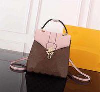Mochila clássica n42262 estilo verificador flor moda clapton flap padrão l New mochilas sacos afvug
