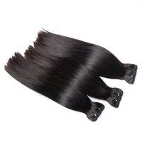 Peruvian virgin human hair bundl with lace closure, 100% Unprocsed Raw Virgin cuticle aligned hair ponytail weave