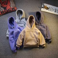 New Winter Toddler Boys Hoodies 2020 Casual Fashion Kids Thicken Warm Sweatshirt Velvet Letter Hooded Fake Two Hoodies for Boy G0917