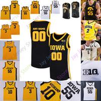 Custom 2021 Iowa Hawkeyes Jersey Jersey NCAA College Luka Garza Joe Wieskamp Cj Fredrick Bohannon Connor McCaffery Ahron Ulis