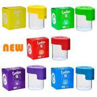 LED-Vergrößerung Stashdose Kekse MAGNIFIZIEREN Sichtbehälter Glas Aufbewahrungsbox USB Wiederaufladbare Licht Geruchssicherer Lager schneller Versand