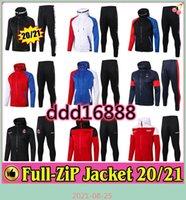Paris Full Zip Hoodie куртка футбол с капюшоном пот футбол Real Madird Cousssuit 2122 2021 учебный костюм 20 21 зимний брюк комплект
