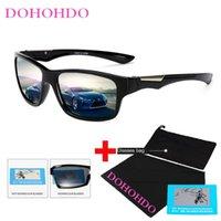 サングラスドーホード黄色の偏光メンズナイトビジョンドライビングサングラスアンチグレアカードライバーゴーグル眼鏡