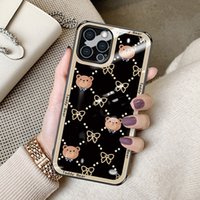 Fashion Design 9D Hardness Temper Glass Phone Cases For iPhone 13 Pro Max 12 11 Xr Xs X 7 6s 8 Samsung Note20 Ultra S2 S20 S8 Plus Customize LOGO Scratchproof 3-in-1 Cover