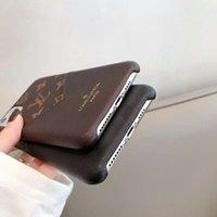 Top Couro Designers Telefone para iPhone 13 Pro Max 12 Mini 11 XS XR X 8 7 Plus Moda Designer de Impressão Capa Card Slot Luxury Mobile Shell com bolso