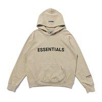 2021 Angst vor Gott Nebel Essentials Halb-Zip-Stehkragen Sweatshirts Männer Frauen Hoodie Essential Pullover CrewNeck Streetwear # A22