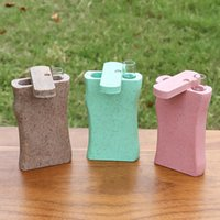 Colorful Degradable Smoking Dugout One Hitter Storage Box Case Portable Innovative Protective Glass Filter Cigarette Tube Holder Tool High Quality Catcher