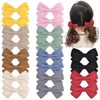 Çocuklar Kız Çocuk Saç Yay Butik Herşey Dahil Bez Bebek Firkete Katı Renk Yay Çocuk Firkete Saç Aksesuarları G22406