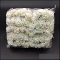 Festival Partisi Ev Gardenpcs / Paket Mini Köpük Yapay Gül Çiçek Buket Düğün Dekor Craft Malzemeleri Inte99 Dekoratif Çiçekler Çelenk