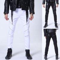 Мужские штаны Houzhou Punk Men Streetwear мода карандаш человек плюс размер черные брюки мужской 2021 молния белый днище хиппи