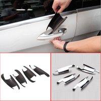 4 x Kohlefaser ABS Chrom Auto Tür Schüssel Abdeckung Zierleiste für Mercedes Benz GLK GL ML ML C Klasse W204 x204 x166 Autozubehör