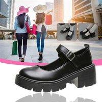 Dress Shoes Lolita Women Japanese Mary Jane Vintage Girls Students JK Uniform High Heel Platform Cosplay Plus Size
