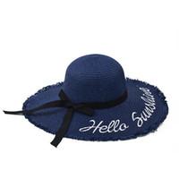 2021 Tendance de la mode Dôme Bowknot tressé Big Breaves Dames Voyage Beach Sunscreen Sun Hat