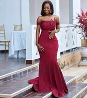 Beaded Newest Neckline Prom Dresses 2022 Long Maid of Honor Party Formal Gowns Zipper Back Mermaid Evening GownsWomen Wear