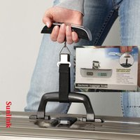 weight scale wholesale 50kg Digital Travel Weighing Luggage Scales Handheld Electronic Suitcase Bags with retail box NHA7590