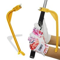 Golf Training Aids 1pcs Swing Trainer Beginner Gesture Alignment Practice Guide Clubs Correct Wrist Aid Leg Movement