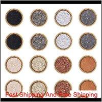 Серьги из простых порций каменных шпильков для женской круглой смолы золотые серьги женские мода ювелирные изделия в наливной ZOP0T JARXW