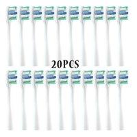 Smart elektrische Zahnbürste Großhandel 20-50pcs / set Ersatzbürstenköpfe für USMILE Y1 / U1 / U2 Oralpflege Weiche Vakuumzahndüse