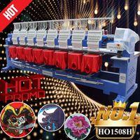 أدوات # EST 400 * 450 ملليمتر آلة التطريز المحوسبة 15 إبر 8 رئيس الصناعية لغطاء / شيرت / شقة / 3D / الترتر