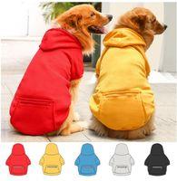 Felpe Abbigliamento per cani con cappuccio con tasca XS-5XL Autunno Autunno Inverno Pet Calda Abito da cucciolo Cappotto Cappotto Giacca 5 colori Regali